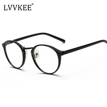 2017 Decorative Fashion Spectacle frame Plain Mirror Round retro art youth Glasses Computer