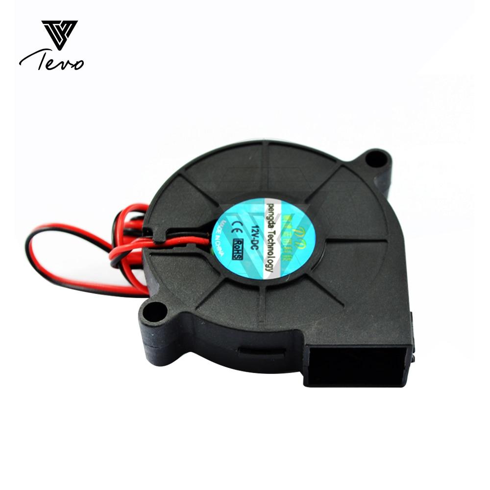 3D Imprimante pièces 50mm x 50mm x 15mm 5 cm 5015 50mm Radial Turbo Ventilateur Ventilateur DC 12 V avec 30 cm ventilateur de refroidissement 2/5/10 PCS