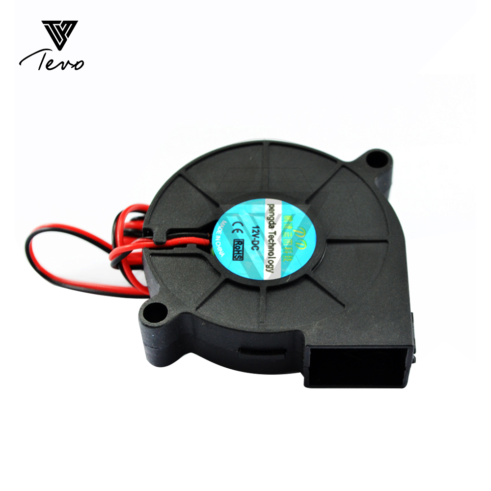 3D Printer parts 50mmx50mmx15mm 5cm 5015 50mm Radial Turbo Blower Fan DC 12V with 30cm  cooling fan 2/5/10PCS