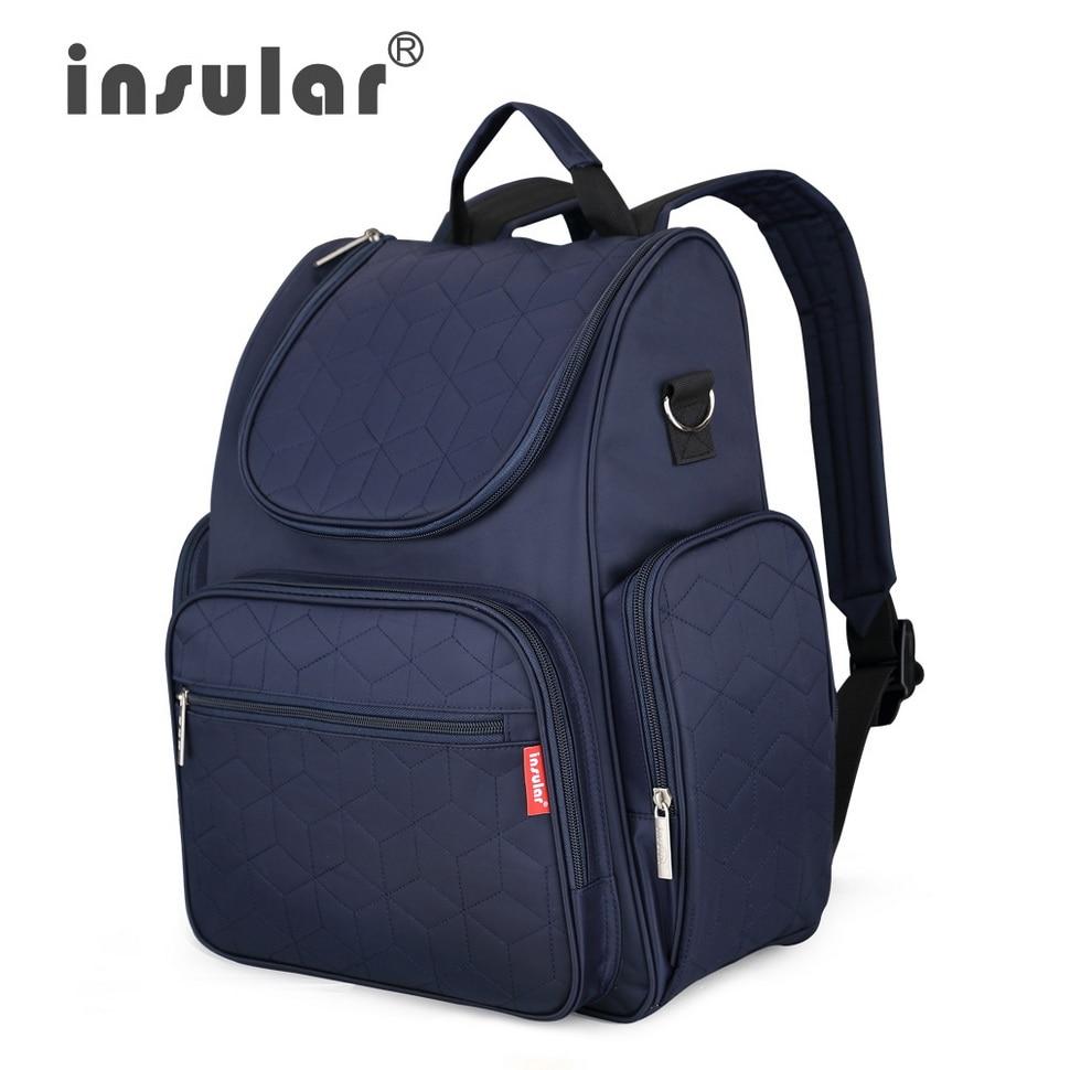 Insular Elegant Baby Diaper Backpack Nappy Stroller Bags Multifunctional Maternity Travel Changing Bag For Mommy Women Backpacks