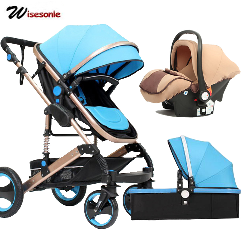 Wisesonle Baby Stroller 2 In 1 Stroller Lying Or Dampening Folding Light Weight Two-sided Child Four Seasons Russia Free Shippin #2