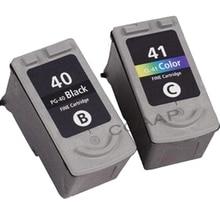2x pg-40 cl-41 картридж для canon pixma mp140 mp150 mp160 mp180 mp450 mp190 mp210 mp220 mp470 принтера