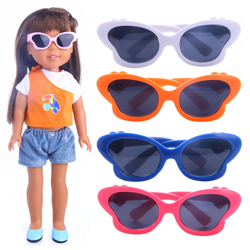 Dream Butterfly Frame Fashion Glasses Fit for American Girl Doll 14.5 inch Wellie Wisher Girl Accessories m86-88