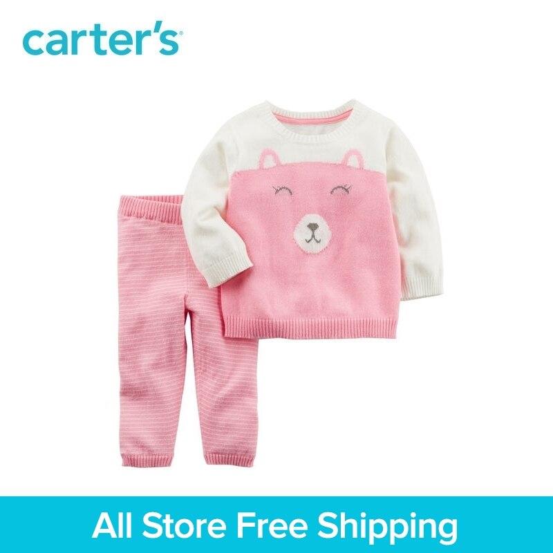 Carter's/комплект одежды из 2 предметов для маленьких детей, весенний хлопковый свитер для девочек, 127G566