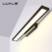 Ванная комната освещение светодиодный Современные Настенные светильники Алюминий простой туалетное зеркало со светодиодной подсветкой С