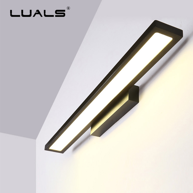 Bathroom Lighting LED Modern Wall Lights Aluminum Simple Mirror Light Nordic Mirror Cabinet Art Makeup Lamps Bedroom Wall Lamp