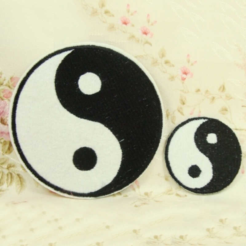 1Pcs Tai Chinese Taoism Symbol Applique Ying Yang Patch Clothes Applique  Classic Feng Shui Yin Yang Iron on Embroidered Patch