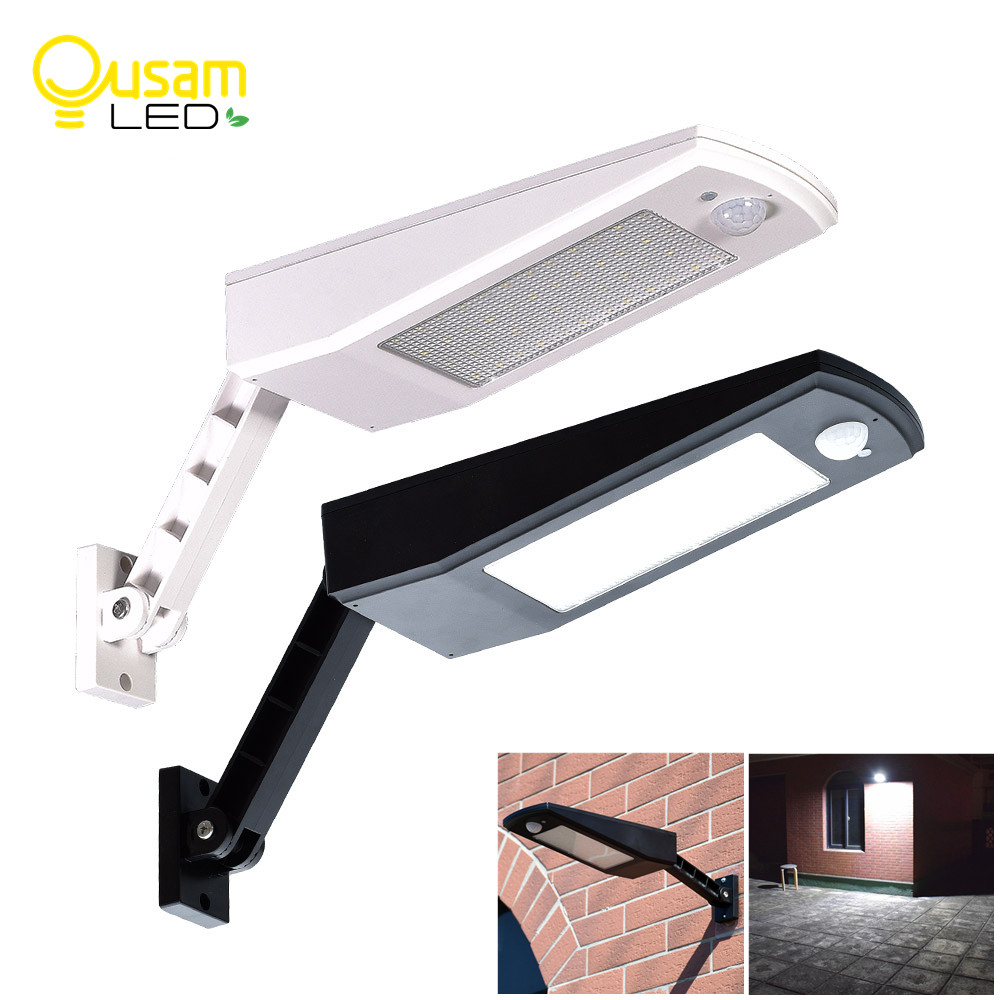 Outdoor LED Wall Light 48LED 900LM Solar Light PIR Sensor Motion Outdoor Lighting 4 Modes New Design Wall Lamp