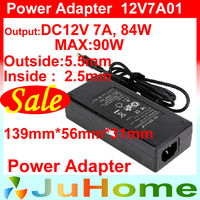 12V 7A, 84W max 90W, power adapter, AC DC adapters, DC ATX, mini ITX, monitor power, laptop power supply, HTPC power supply