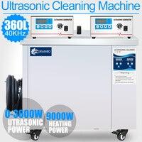 360L Ванна Нержавеющаясталь 40 кГц цифровой ультразвуковой очистки 3.6KW Ультразвуковой Пьезоэлектрический чище лаборатории автомобиля удали