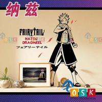 אוהדי קריקטורה מדבקה לרכב יפני זנב פיות Natsu Dragneel עיצוב מדבקת מדבקת הקיר ויניל