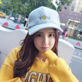 Autumn and winter fashion wool baseball cap Men and women hip-hop smiley face YOU letters bent eaves hat