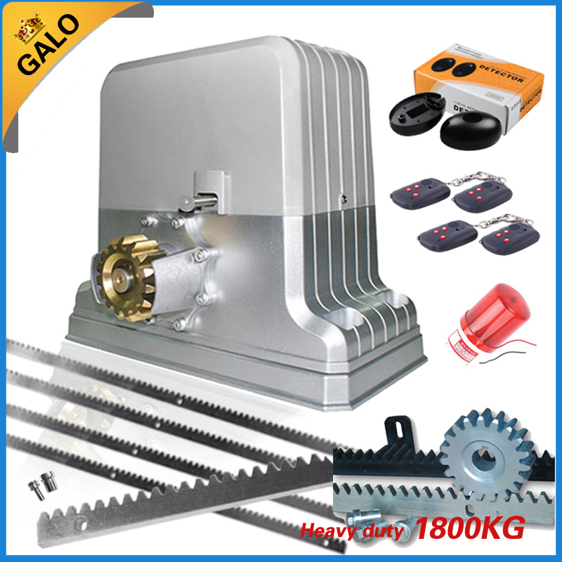 Heavy duty 1800kg electrical automatic rolling/sliding gate opener motor 5m or 6m racks 1 sensor 1 lamp(GSM keypad optional) factory price for the driving 300 kgs sliding gate opener villa automatic door machine con maquinas inteligentes abre la puert