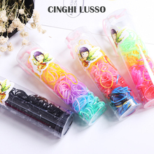 CINGHI LUSSO about 80pcs/pack Rubber Hairband Head Rope Ponytail Holder Elastic Hair Gum Rings Girls Accessories Children