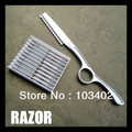 "1 X 7"" Hair Shaper Zinc Alloy RAZOR, 1pc With 10Bds_Styling Blade"