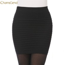 CHAMSGEND Trendy Style 1PC Female Tight Fashion Womens Elastic Pleated High Waist Package Hip Short Skirts Gifts(China)