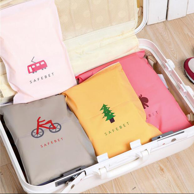 1 PCS 24*35cm Travel Storage Bags Organizer For Clothe Shoes Underwear Socks.2 Size 8 Colors to Choose.