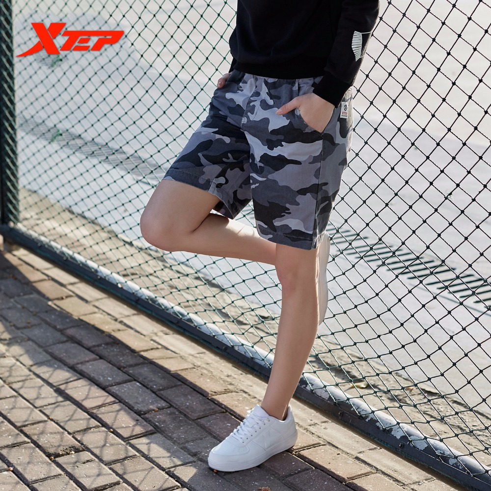 XTEP Sexy Breathable Camouflage Military Loose Army Cargo Trousers sweatpant Running Gym women Short Pants 883128689625
