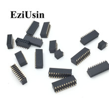 SMT 1.27mm 1.27 Double Row Female Breakaway PCB Board Pin Header socket Connector Pinheader 2*5 2*10 2*12 2*15 2*20 2* 3-50P SMD