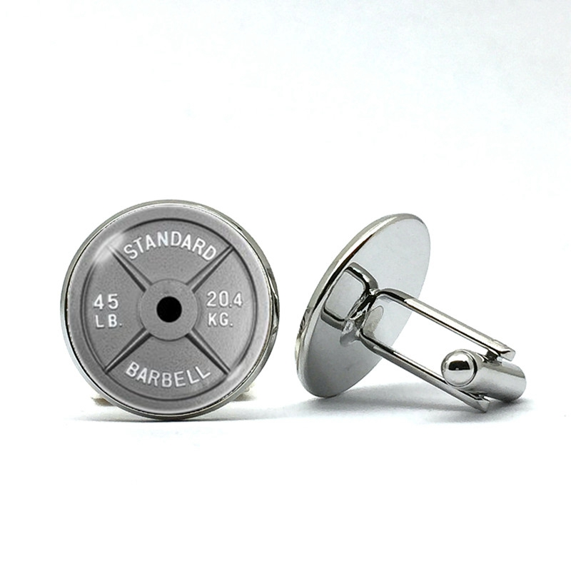 Barbell Cufflinks Fitness Cufflinks Dumbbell Cuff Links Weightlifter Gifts Athlete Gifts Fitness Clothing Men's Fitness