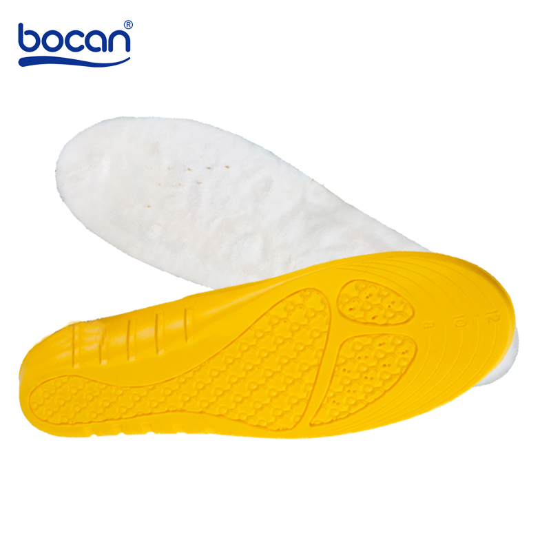 Bocan Insoles Heated Imitation Wool Insoles Winter Thick Insole Wool Warm fur Keep Feet Warm Comfortable for Men Women Shoes bsaid height increasing fur insoles diy cut winter keep warm thick breathable soft wool shoe insole men women height increase