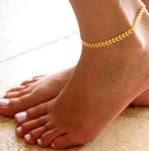 Blue summer 2019 retro arrow beach anklet ladies bohemian female bracelet foot jewelry ankle chain beaded fashion