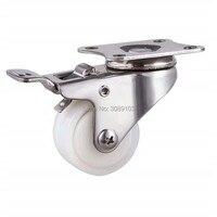 Mini 1 5 25Kg Nylon Stainless Steel Wheels Castors Plate Swivel Rotaion Small Industrial Caster Wheels