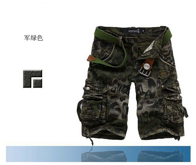 Новинка, мужские шорты высшего качества, камуфляжные брюки в стиле милитари, камуфляжные Шорты хлопковые шорты в стиле кэжуал