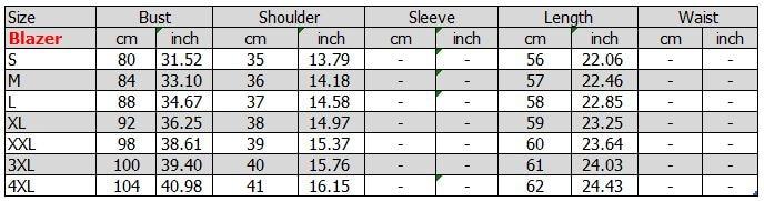 4XL blazer short sleeve