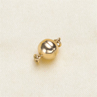 Solid 14k Karat Yellow Gold Magnetic Clasp Hooks Jewelry Clasps End Caps Connectors for Jewelry Making Supplies Magnetic Clasp