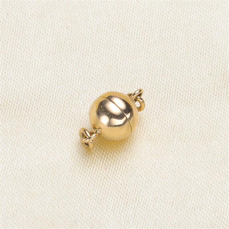 Solide 14 k Karat or jaune fermoir magnétique crochets bijoux fermoirs embouts connecteurs pour fournitures de fabrication de bijoux fermoir magnétique