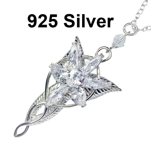 The lord of the lotr 925 sterling silver arwen evenstar pendant the lord of the lotr 925 sterling silver arwen evenstar pendant necklace the hobbit fashion princess aloadofball Choice Image