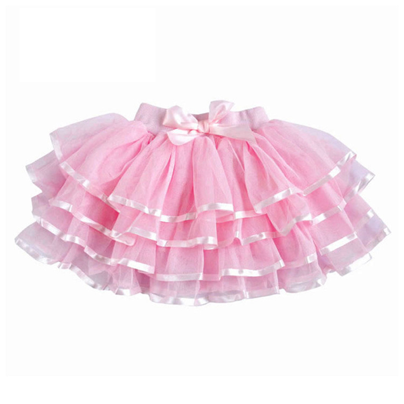 Tulle Fluffy Children Girls TuTu Skirts Girl Dance With Satin Ribbon Bowknot Princess Layered Skirt Bubble 3 14Y In From Mother Kids
