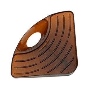 Image 3 - חם 1 PC אמבטיה מטבח כיור פינת אחסון מדף ארגונית ספונג רב תכליתי מדף קיר מטבח מדף צלחת ניקוז חומרה