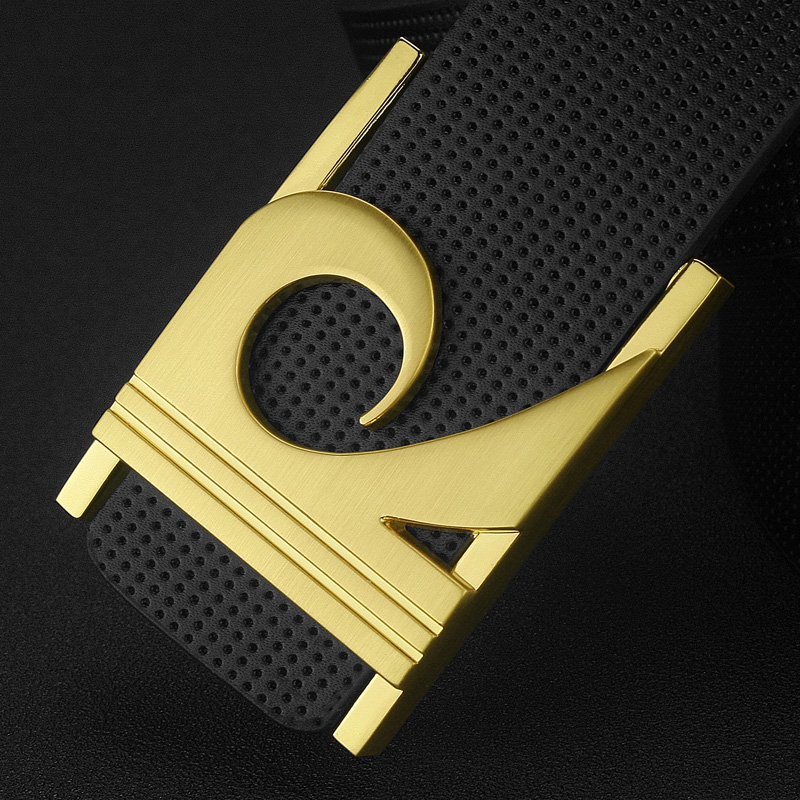2018 fashion R letter Black Geometric Luxury Metal Buckle leather belt men genuine Cow Leather off white Boys Cinturones Hombre
