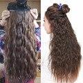 3 Цвет 19 дюйма one Piece Вьющиеся Волосы Клипы в Ombre Тон Радужный Синтетических Волос Жаропрочных Увядать 130 г Cabelo волос