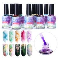 12pcs Watercolor Ink Nail Polish Blooming Gel Smoke Effect Magic Smudge Bubble DIY Varnish Nail Art Decorations Manicure SA895 1