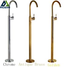 Luxury Bathroom Floor Mounted Bathroom Tub Faucet Single Handle Hot and Cold Water Freestanding Bathtub Mixer Taps