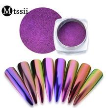 Mtssii Chameleon Mirror Nail Glitter Powder Neon Aurora Effect Mermaid Nail Art Dust Chrome Pigment Manicure Decoration