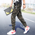 2015 New Arrival Casual cotton Full Length Harem Pants Army Green Camouflage Cargo Pants hip hop Jogger Pants