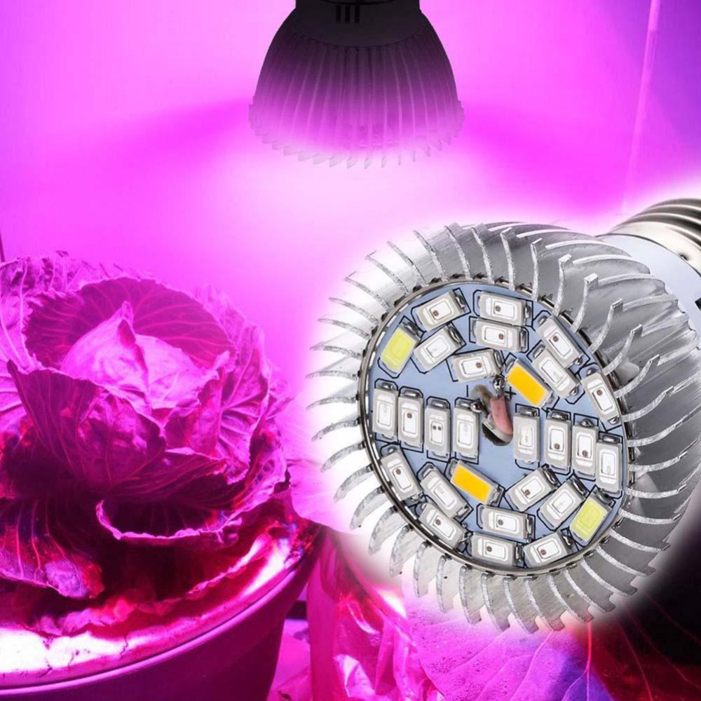 Lamp Plant Us 4 05 New 28w Full Spectrum E27 Led Grow Light Ing Lamp Bulb For Flower Plant Fruits Led Lights For Greenhouse In Led Grow Lights From Lights