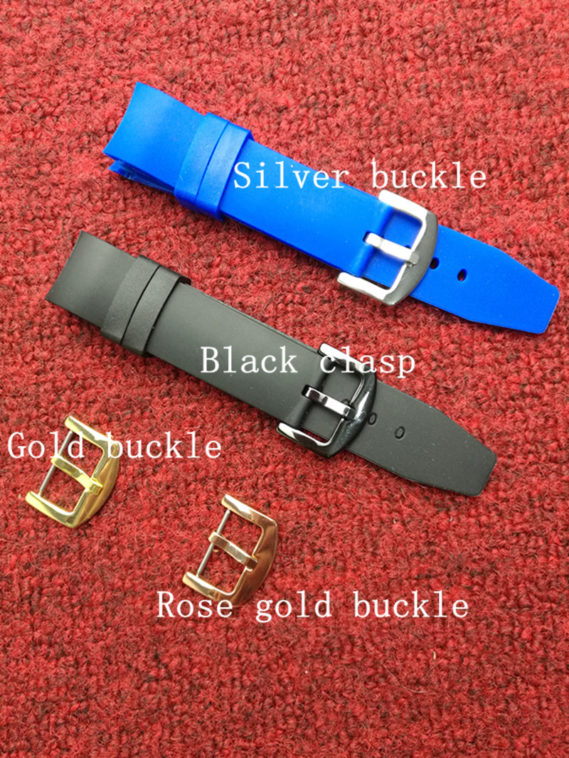 Watch Accessories Silicone strap 20mm buckle rubber watch with curved elbow tape for brand watches watch accessories silicone strap 20mm buckle rubber watch with curved elbow tape for brand watches