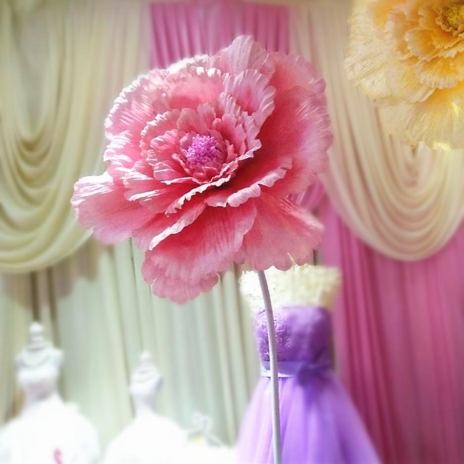 40cm50cm60cm70cm80cm Large Silk Artificial Flower Rose Head For