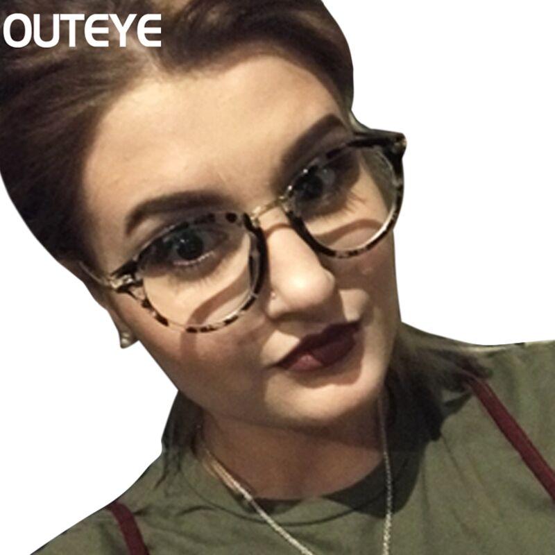 √Retro ojo óptico Gafas marcos para las mujeres claro lente ojo ...