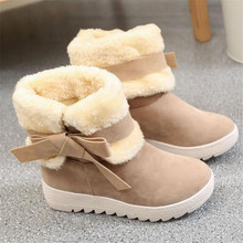 MXHY 2017 women Snow boots warm winter ankle boots Female shoes plus student bow fashion child snow boots fashion kids sneakers
