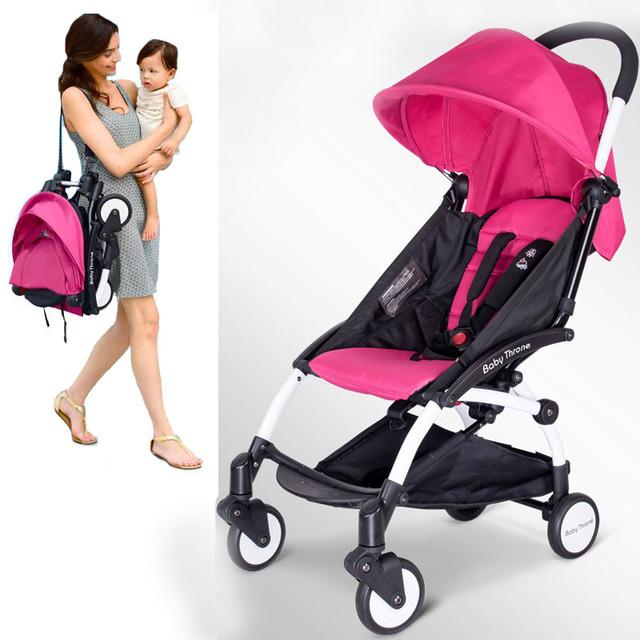 Trono bebê carrinho de bebê para 6-36 meses crianças Luz Ultra Dobrável poussette carrinhos carrinho de Amortecedores bebê dobrável