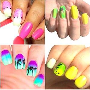 Image 5 - Polvo de pigmento de neón para uñas, 1 caja de pigmento fluorescente, purpurina brillante para invierno, decoración artística de uñas DIY, CHYE01 13 1 DE MANICURA