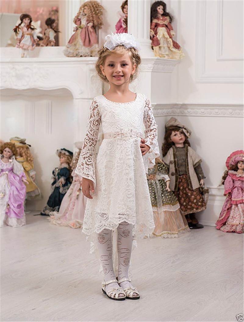 Communion Bridesmaid Wedding Flower Girl Dress Party Prom Princess Pageant the unknown bridesmaid