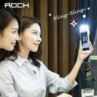 ROCHA Caso Selfie Diodo Emissor de Luz para o iphone 7 7 Plus Caso para o iphone 6 6 s plus Universal LED Flash Light Up Selfie cobrir