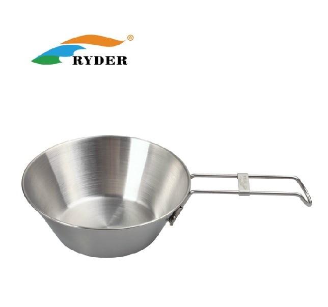 Ryder castron din oțel inoxidabil de camping castron castron pliere - Camping și drumeții